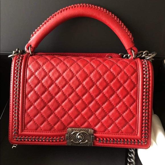 CHANEL Handbags - Chanel New Medium with top handle Le boy Bag